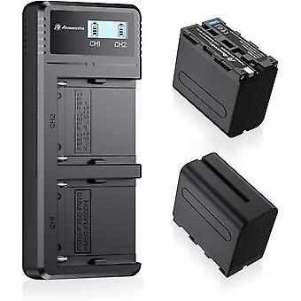 NP-F970, NP-F960, NP-F930, NP-F950,  2 X 8800mAh Replacement Battery