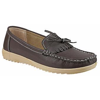 Fleet & Foster Elba Womens Ladies Flats Shoes Brown UK Size