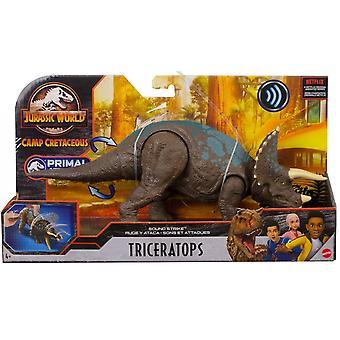 Jurassic World Sound Strike Triceratops Dinosaur Figure