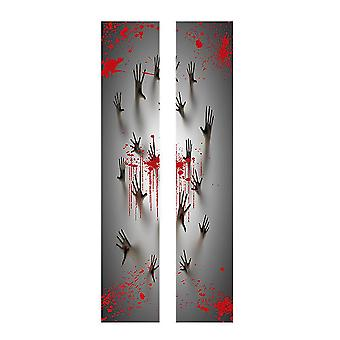 YANGAFN Хэллоуин Кровавый Призрак Отпечаток стены наклейка