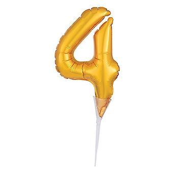 "Foil Gold Cake Balloon - 4 -150mm (6"") - single"