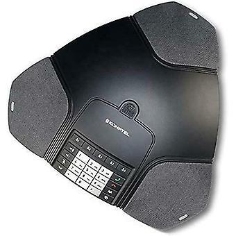 Konftel 220 Analogue Conference Phone, Black - KON220 - EU 2 Pin Plug