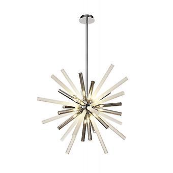 Lámpara Colgante De Diseño Delipsa 16 Bombillas Cromo Pulido