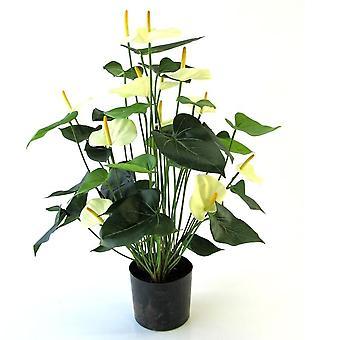 Crema artificiale Anthurium Deluxe da 80 cm