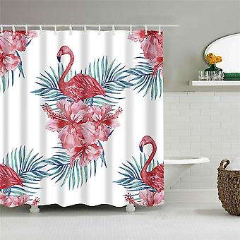 Bathroom Curtain With Hooks ( Set 3)