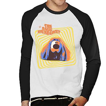The Magic Roundabout Retro Psychedelic Dougal Men's Baseball Long Sleeved T-Shirt