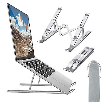 Laptop Stand Universal Ventilated Laptop Holder Foldable Riser with 7 Angles Height Adjustment Non Slip Aluminum Notebook Mount