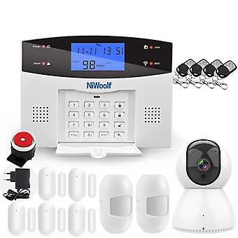 Wifi Pstn Gsm Alarm System Compatible With 433mhz Wireless /wired Detector