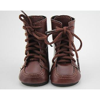 American Doll Vintage Brown Leather Boots Fit 18 Inch