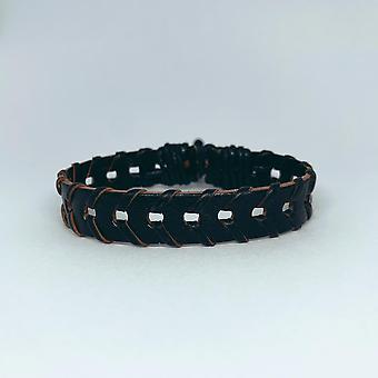 Un bracelet fait main pour les hommes petits trous ruban noir