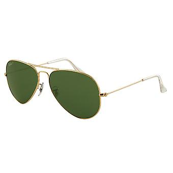Grande Mens métal Ray-Ban Aviator lunettes de soleil RB3025-001/58-62