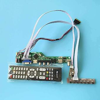 Lcd Screen Lvds Keypad+remote 1366*768 Tv Control Drive Board