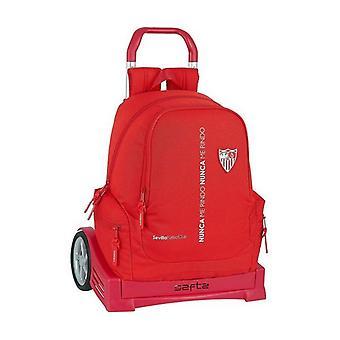 School Rucksack with Wheels Evolution Sevilla Fútbol Club Red