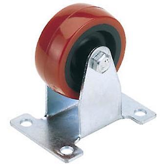 Draper 65517 75mm Diameter Fixed Plate Fixing Polyurethane Wheel - S.W.L. 100Kg
