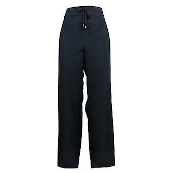 Susan Graver Women's Pants XLWeekend Premium Stretch Drawstring Navy A373724