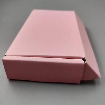 Square Corrugated Box Pink Cardboard Box