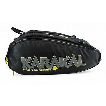 Karakal برو جولة شركات 9 مضرب حقيبة الرياضة المعدات حقيبة ظهر نظام حمل