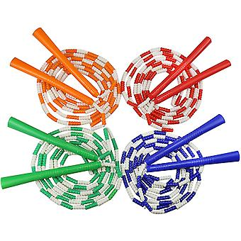 4 Pack Soft Bead Jump Rope Beaded Segmented Adjustable Jumping Rope For Adults Gym Exercise Fitness (random Color)