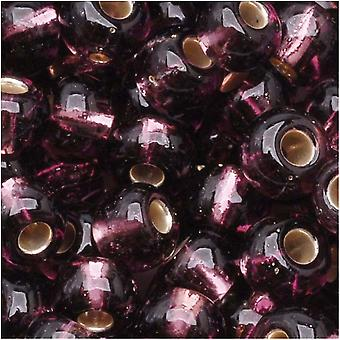Czech Seed Beads 6/0 Amethyst Purple Silver Lined (1 Ounce)