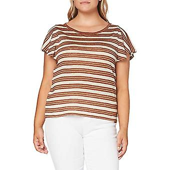 United Colors of Benetton 3OC1E17F2 T-shirt, Tobacco Stripes 9g4, S Woman
