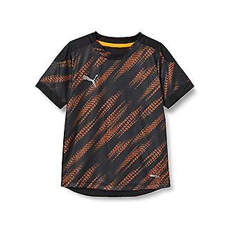 Puma Ftblnxt Graphic Shirt Jr Unisex T-Shirt, Unisex - Erwachsene, T-Shirt, 656828, Puma Black Shocking Orange, 176