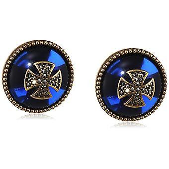 Misis Women-EarringsArtificialia Silver 925 marked quartz enamel 2 cm - OR09074BL