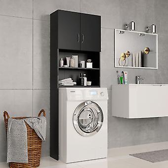 Waschmaschine Schrank 64X25,5X190 Cm Spanplatten Schwarz