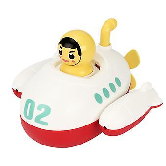 Baby bevægelig vind?up ubåd legetøj flydende bad legetøj småbørn vand sprøjter legetøj