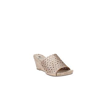 White Mountain   Atlie Embellished Open Toe Wedge Sandals