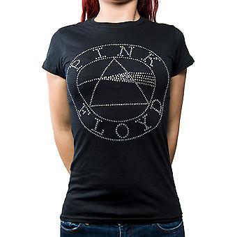 Pink Floyd - Circle Logo Women's X-Large T-Shirt - Black