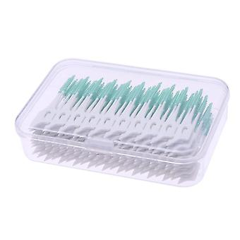 Soft Silicone Double-ended Floss Inter Brush Tooth Picks