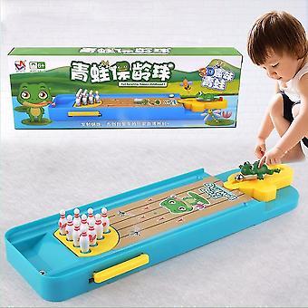 Kinder Mini Desktop Frosch Bowling Spielzeug Kits tragbare Indoor-Bildungstisch