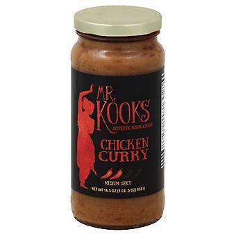 Pollo al curry salsa Kook, custodia da 6 X 16,5 Oz