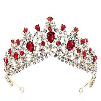 Wedding Jewelry Rhinestone Crystal Baroque Bridal Crown Headdress Queen Diadem