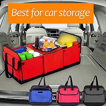 Car Storage Organizer Trunk Collapsible Toys Food Storage Truck Cargo Container Bags Box Black Car