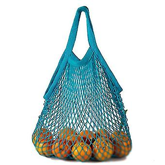 Σύντομη απόσυρση καθαρό βαμβάκι καθαρή τσάντα φορητό βαμβάκι τσάντα βαμβάκι σούπερ μάρκετ λαχανικό (μπλε)