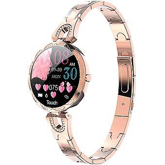 Smart Watch Men Boy Women Girl Trendy Braccialetto colorato Touch screen Sleep Frequenza cardiaca Lunga durata della batteria IP68 impermeabile (nero)