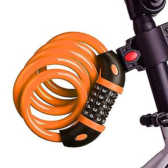 Swotgdoby Bike Lock Cable, 5-digit Self Coiling Resettable Combination Code