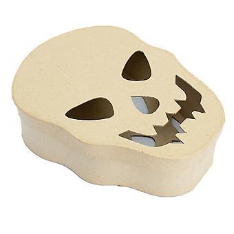 Single Skull Shape Papier Mache Box | Halloween Ambachten