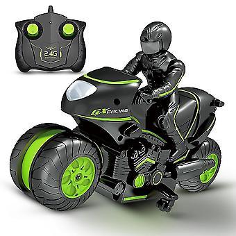 Kinderen motorfiets elektrische afstandsbediening auto racing boy speelgoed voor kinderen verjaardagscadeau (groen)