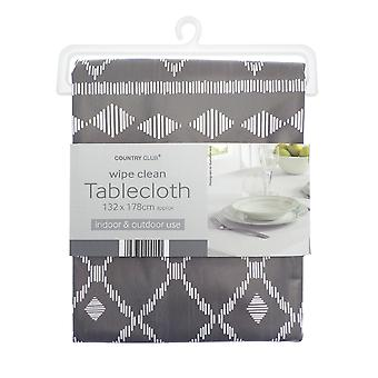 Country Club PVC Tablecloth, Berber Grey