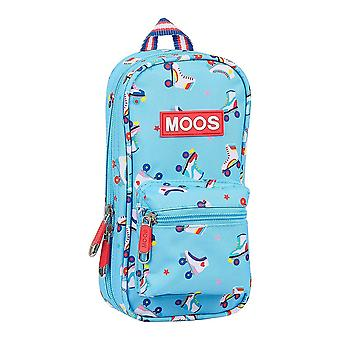 Backpack Pencil Case Rollers Moos Multicolour Light Blue (33 Pieces)