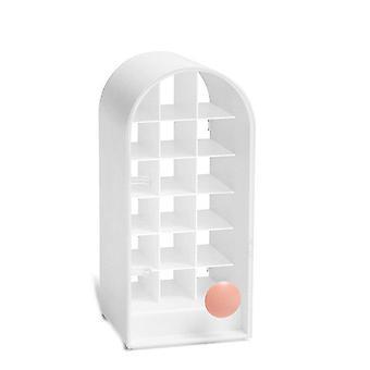 18 Grid Lippenstift Display Ständer mit Griff Transparent Kosmetikhalter Nordic Desktop Aufbewahrungsbox