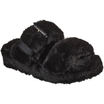 Skechers naisten viihtyisä kiila mukava pörröinen sandaalit tossut