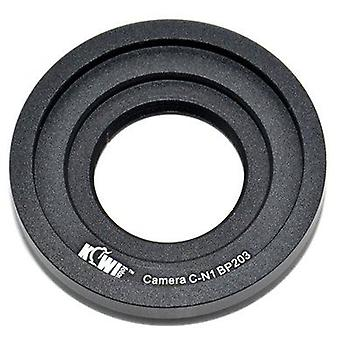 Kiwifotos objektív Mount Adapter: umožňuje C-mount objektívy (16mm filmové kamery, CCTV kamery, trinokulárne mikroskopické fototrubice), ktoré majú byť použité na každom Nikon 1 Series Camera (J1, J2, J3, S1, v1, v2)