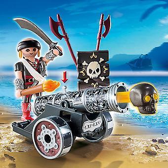 Playmobil 6165 Piraten interaktive Kanone mit Piraten Kapitän Schwarz