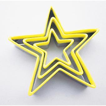 Eddingtons set de 3 Star cookie-uri forma de tăiere cu topuri galben