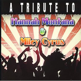 Tribute to Miley Cyrus & Hannah Montana - Tribute to Miley Cyrus & Hannah Montana [CD] USA import