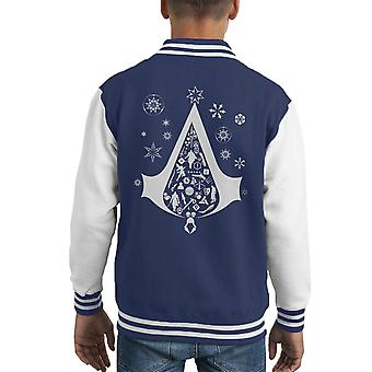 Noel Ağacı Assassins Creed Kid's Varsity Ceket