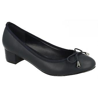 Spot On Womens/Ladies Mid Heel Court Shoes With Elastic Bow